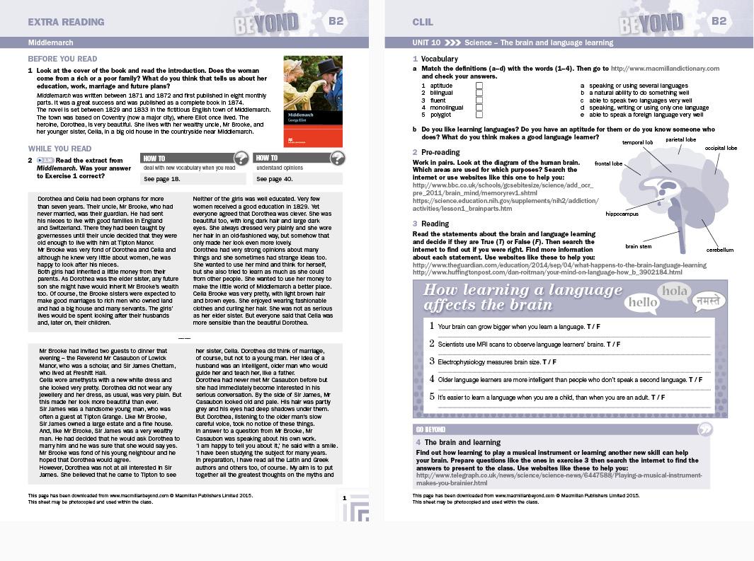 Macmillan Education Beyond Secondary ELT Student's book