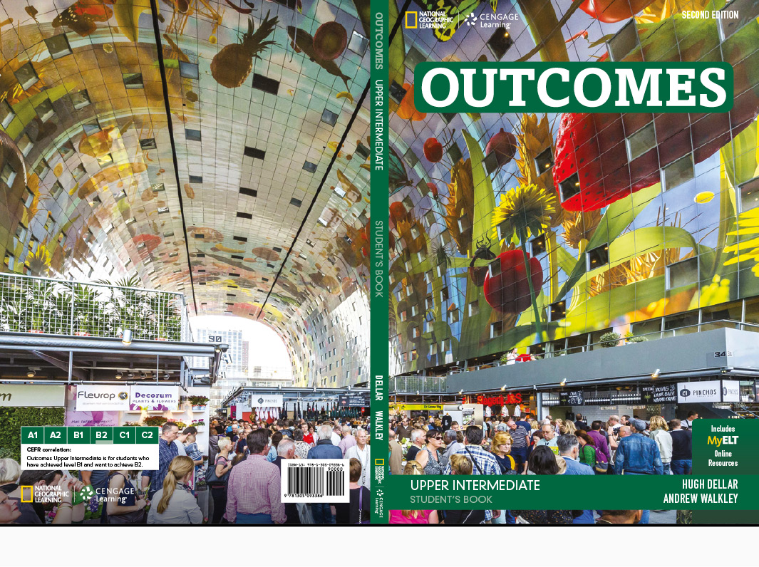 National Geographic Learning | Cengage Learning Outcomes Covers Adult ELT Student book covers
