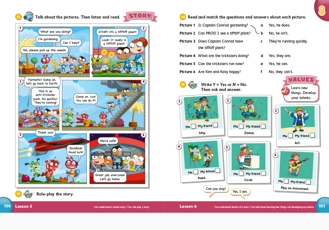 Pearson Education Poptropica English Primary ELT Student's books, Teacher's books and Workbooks