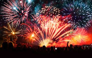 New year, fireworks, party, celebrations